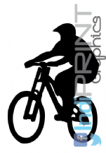 Downhill MTB Rider Graphic